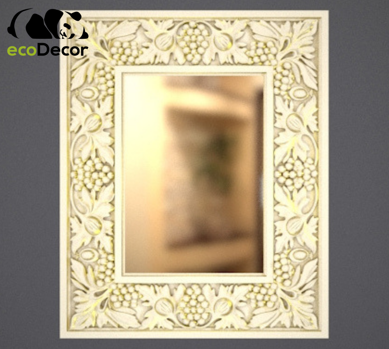 Зеркало настенное Sapporo в белой с золотом раме