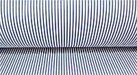 Ткань. Хлопок  в мелкую синюю полоску на белом. Отрез 50х40см