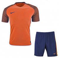 Футбольная форма игровая Nike (Найк оранж\т.синяя), фото 1