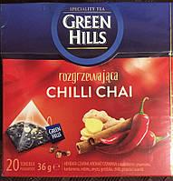 Чай Green Hills (имбирь, корица, перец чили), 20 пакетиков, Польша