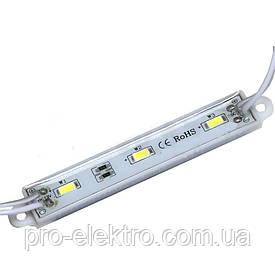 Светодиодный модуль M1 корпус пластик открытый + силикон SMD5630 DC12, 1,5w, IP65, Тёплый белый