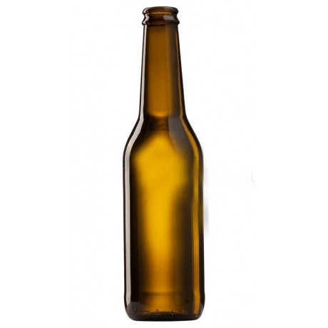 Пивная бутылка 0,33 литра (коричневое стекло) под кроненпробку