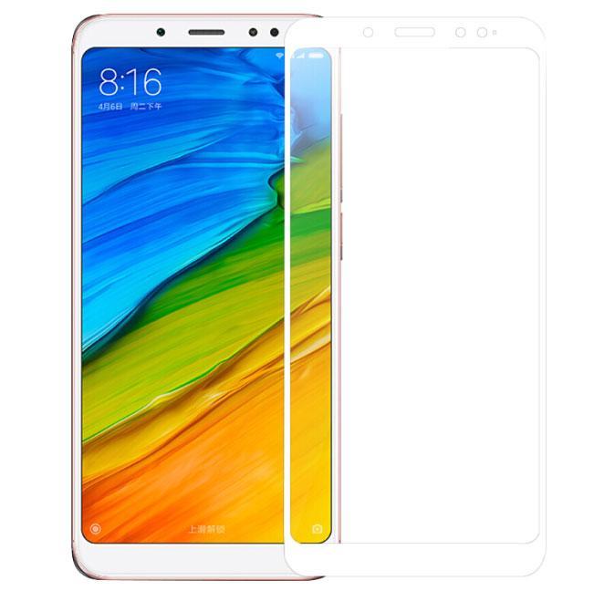 Full Glue защитное стекло для телефона Xiaomi Redmi Note 5 / 5 Pro - White