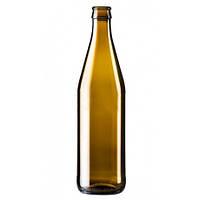 Пивная бутылка 0,5 литра (коричневое стекло) под кроненпробку