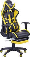 Геймерское кресло VR Racer BattleBee чёрно-жёлтое, фото 1