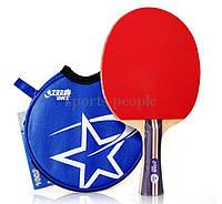 Набор для настольного тенниса DHS 1002: ракетка +чехол, фото 1