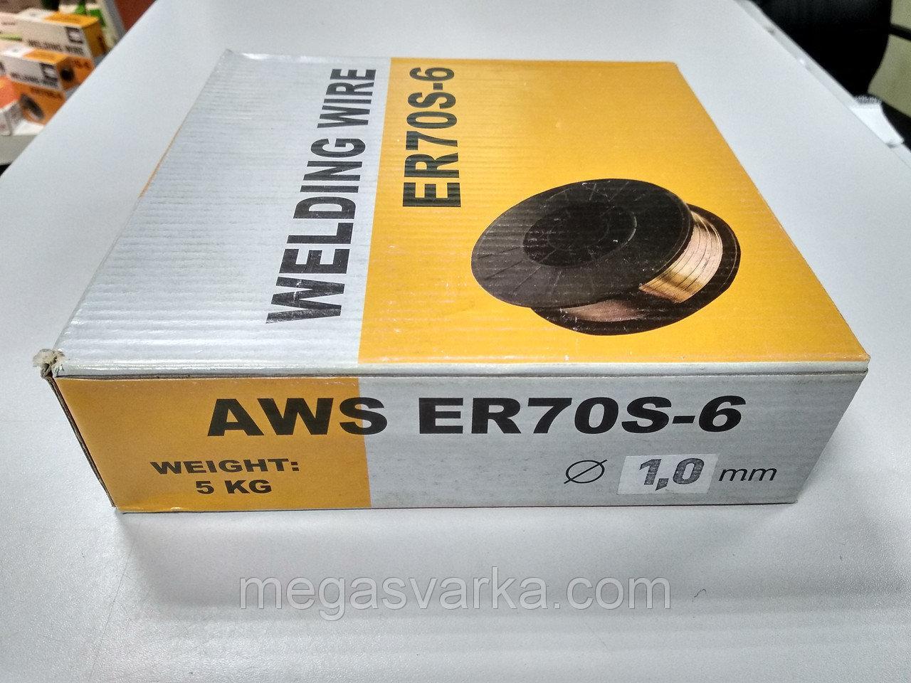 Проволока сварочная ER70S-6 омедненная (аналог СВ08Г2С) ф0.8/4кг