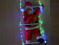 Дед Мороз на светящейся лестнице 60см., фото 1