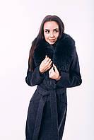 Длинное пальто зимнее с песцом Д 258