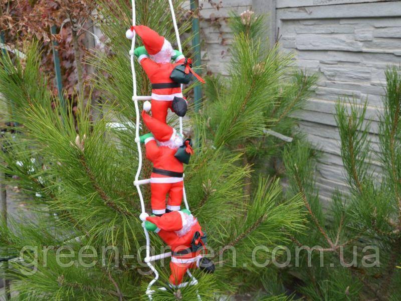 Три Деда Мороза на лестнице
