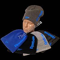 Детская шапка с флисом для мальчиков, трехнитка 4-9лет Украина. Реплика Reebok м.7560
