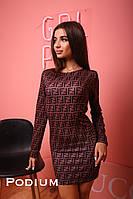 Женское стильное платье с принтом , фото 1
