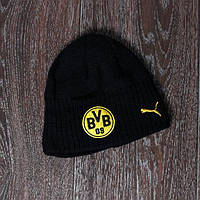 Футбольная шапка детская Боруссия Дортмунд (черная)