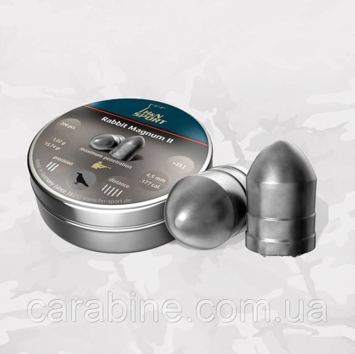 Пули H&N Rabbit Magnum II 200 шт/уп, 1,02 гр 4,5 мм