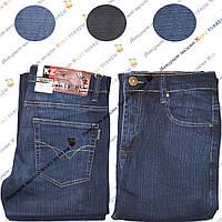 Мужские джинсы в рубчик Стрейч Баталы Размер: 38- 44