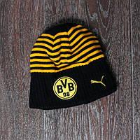 Футбольная шапка детская Боруссия Дортмунд (черно-жолтая)