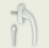 Ручка оконная GERA белая алюминиевая штифт 35 мм