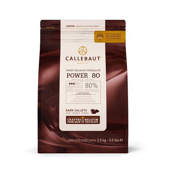 Екстра Чoрний Бельгійський Шоколад Power 80  2.5 кг ТМ CALLEBAUT