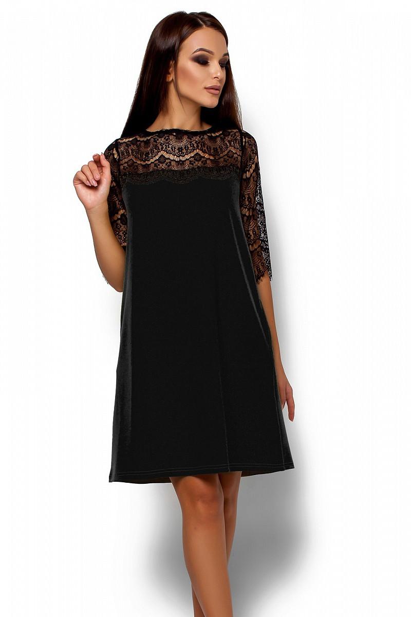 (S, M, L) Коктейльне чорне плаття Angola