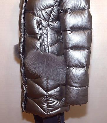 Модная зимняя куртка экокожа Qarlevar 6070 ( S, L), фото 3