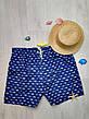 """Шорты мужские пляжные синие """"акулы"""" - 159-02-1, фото 2"""