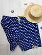 """Шорты мужские пляжные синие """"акулы"""" - 159-02-1, фото 5"""