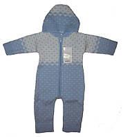 Комбінезон на блискавці, з капюшоном (блакитний колір), зріст 74-80 см, фото 1