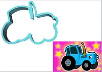 Вырубка кондитерская для пряника мастики марципан Синий Трактор 8*8