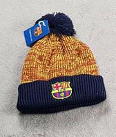 Футбольная шапка Барселона (коричневая)