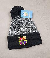 Футбольная шапка Барселона (черная)
