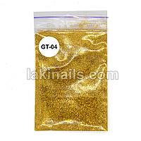 Глиттер для блеск-тату GT-04, золото