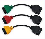 Комплект кольорових кабелів для Fiat ECU Scan OBD2 16Pin Роз'єм, фото 2