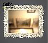 Зеркало настенное Gomel в черной с белым раме, фото 8
