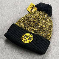 Футбольная шапка Боруссия Дортмунд (черная)