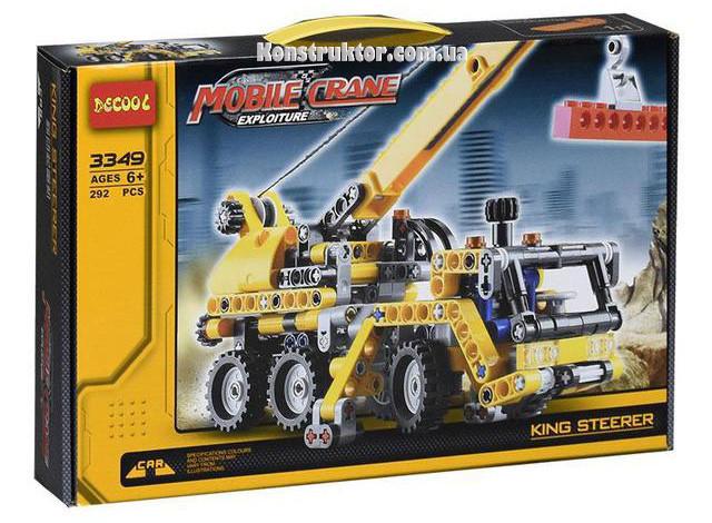 """Конструктор Decool 3349 """"Передвижной мини-кран"""" 292 деталей. Аналог Lego Technic 8067"""