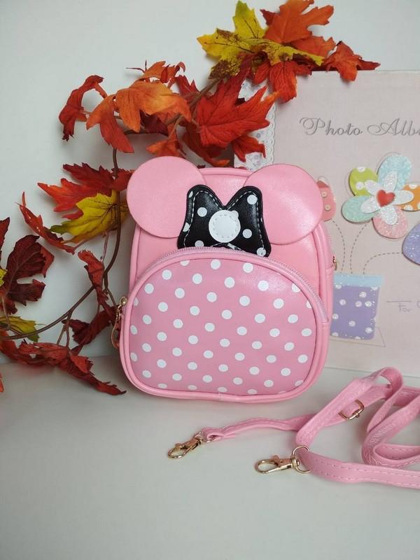 Розовый рюкзак для девочки Минни Маус 19*16*6 см
