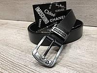Мужской кожаный ремень в стиле Versace, фото 1