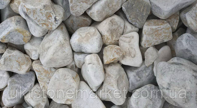 Галька мармур крем-сірий 80-120