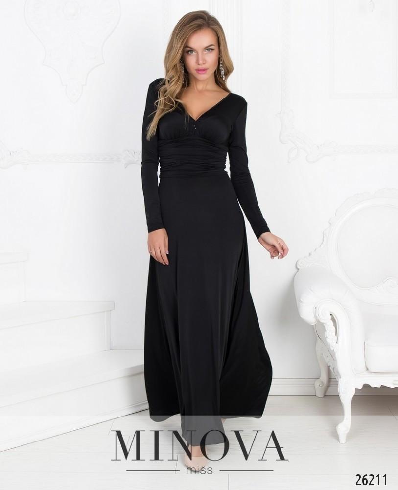 Роскошное вечернее платье-макси с глубоким декольте и открытой спиной размер: 42,44,46
