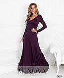 Роскошное вечернее платье-макси с глубоким декольте и открытой спиной размер: 42,44,46, фото 2