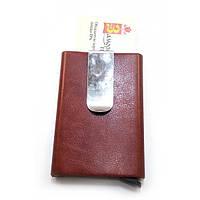 Футляр для кредитных карт с зажимом для денег с выдвижным механизмом(10х6,5х1,5 см) ( 32152)