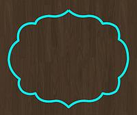 Вырубка кондитерская для пряника мастики марципана Рамка 8*9 см