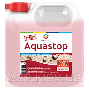 Грунтовка Eskaro Aquastop Prof концентрат 3 л
