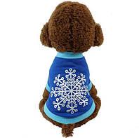 Футболка «Снежинка» для собак, размер M