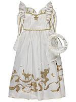 """Платье карнавальное George """"Ангелочек"""", набор с крыльями и нимбом, размер 104 новогодний костюм для девочки"""