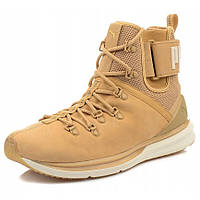 Ботинки мужские Puma IGNITE Limitless Boot Leather 190563 02 (бежевые, кожаные, осень/зима, логотип пума), фото 1