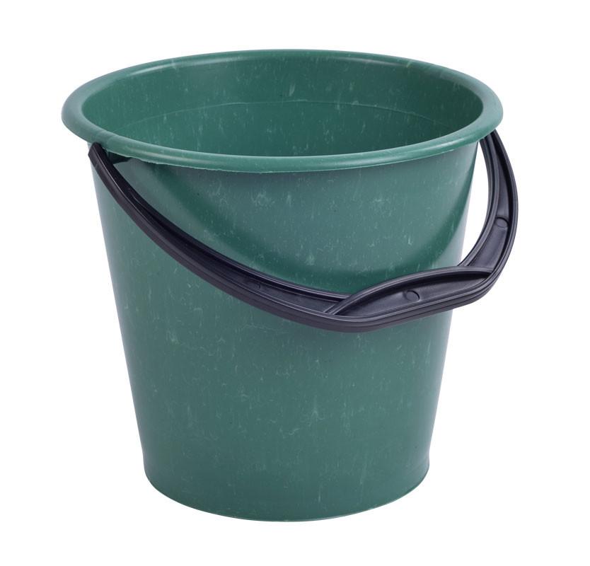 Ведро пластиковое 10л садово-огородное (сорт 2), (цветное), без крышки
