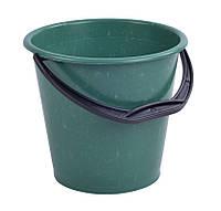 Ведро пластиковое 10л садово-огородное (сорт 2), (цветное), без крышки, фото 1