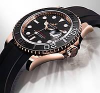 Наручные часы Rolex Yacht-Master Everose Oysterflex механические мужские копия, фото 1