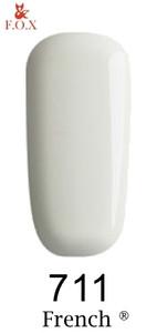Гель-лак F. O. X. 12 мл French 711 білий емаль